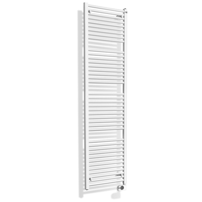 Badkamer radiator > Elektrische Radiator > Elektrische Radiator kopen? Elektrische Sierradiator Wiesbaden Elara 181.7×60 cm Wit het voordeligst hier