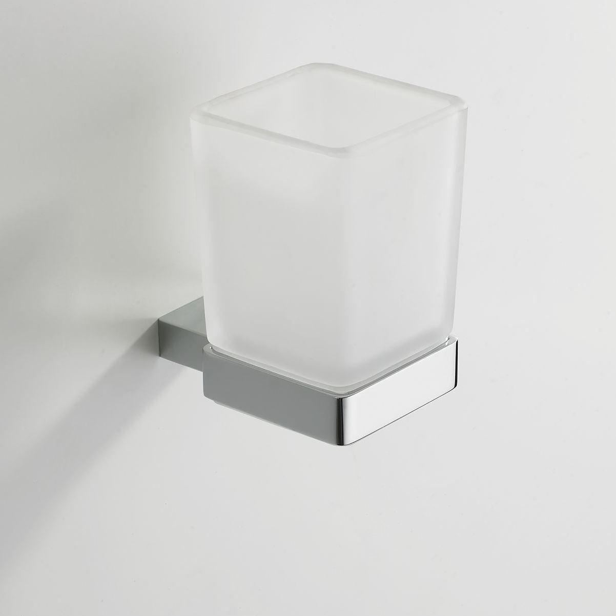 Eris glashouder / bekerhouder met glas chroom