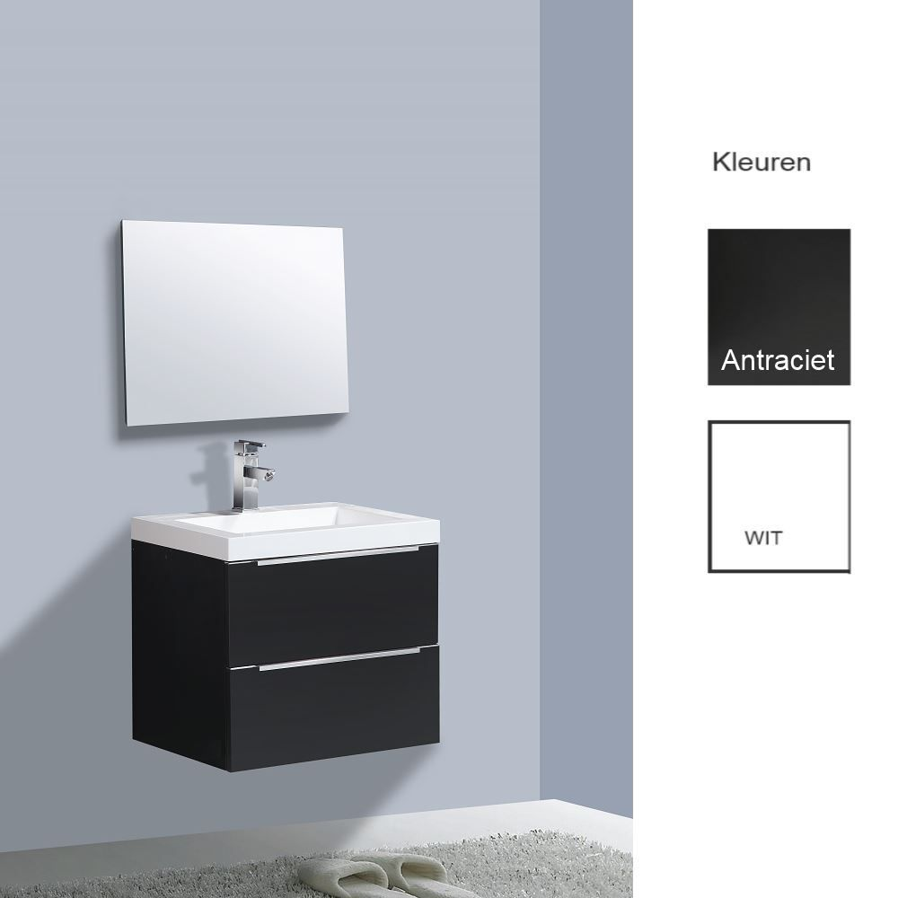 Badkamermeubels Wastafelonderkast kopen? Badkamermeubelset Sanilux Senza 60x47x50 cm (in twee kleuren leverbaar) met korting