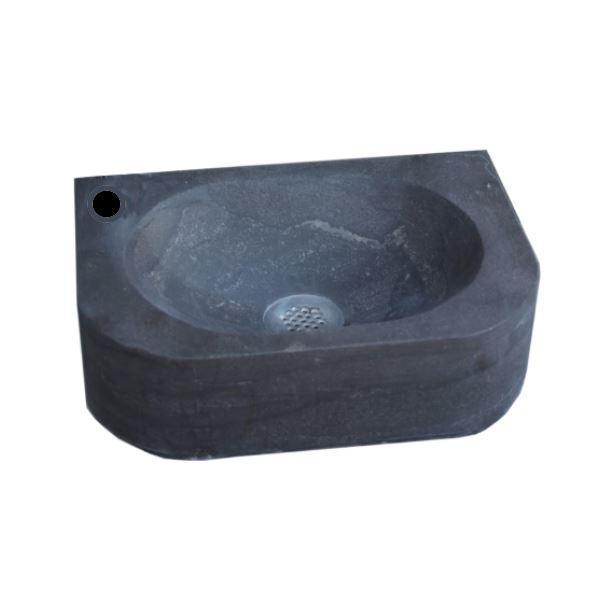 Natuursteen fontein Flow 35x24x10cm (kraangat links)
