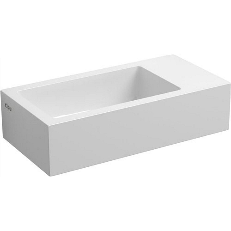 Fontein Clou Flush 3 36x18x9cm Mineraal Marmer Glans Wit (Met Voorbewerkt Kraangat Rechts) voordeel