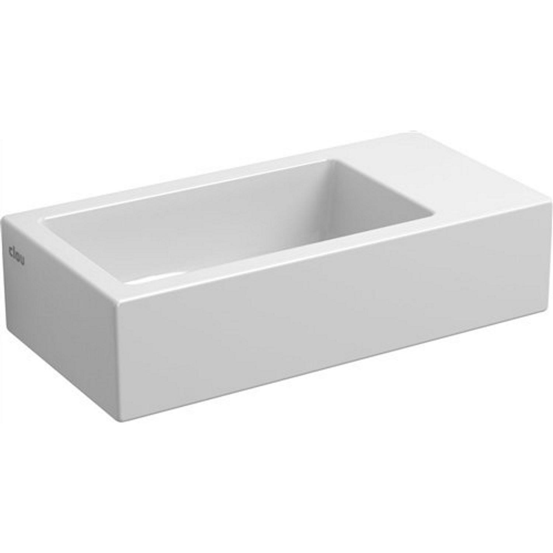 Fontein Clou Flush 3 36x18x9cm Rechts Keramiek Glans Wit (Zonder Kraangat) voordeel