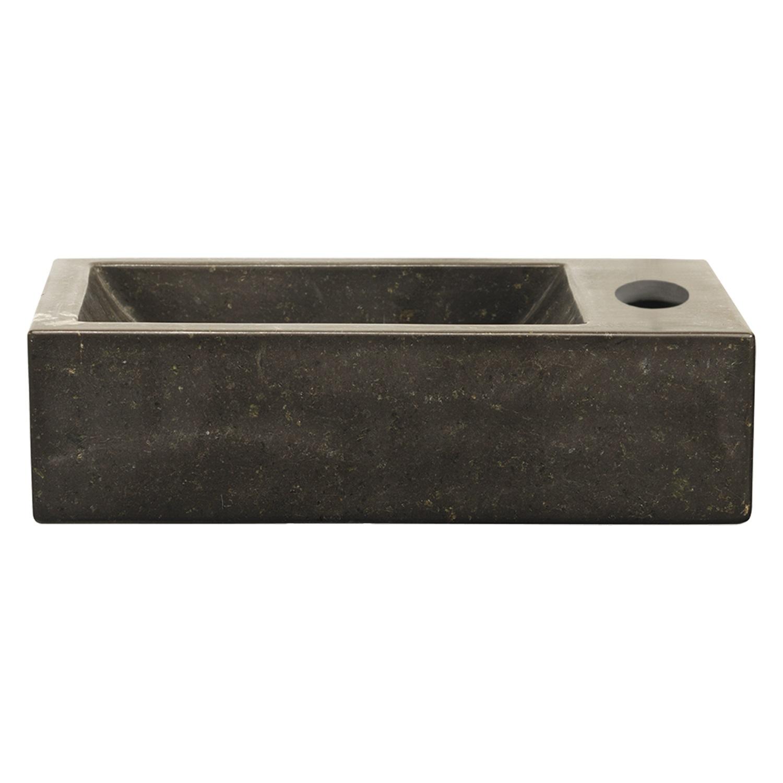 Fontein Differnz Rega 40x23x11 cm Natuursteen Bruin Wastafels > Fontein toilet > Natuursteen Fontein snel en voordelig in huis