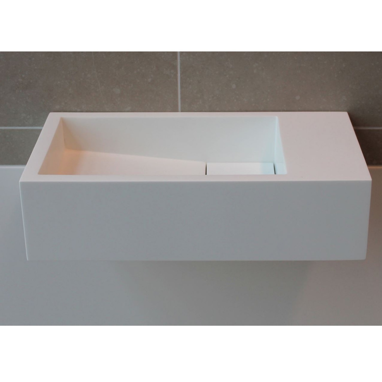 Badkamer Fontein Luca Sanitair 35x18x9cm Solid Surface Zonder Kraangat Links Of Rechts Mat Wit Fontein toilet