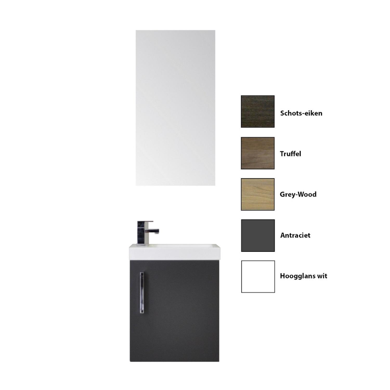Fonteinkast Sanicare Q40 1 Soft-Closing Deur Chromen Greep (alle kleuren) kopen - Tegel Depot sanitair met korting