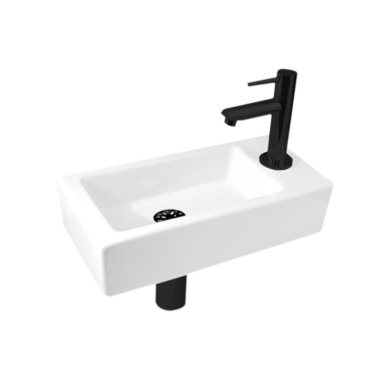 Fonteinset Best Design Mini Block One Pack Rechts 36x18cm Mat Zwart