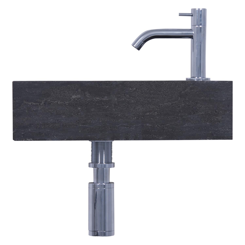 Fonteinset Differnz Furan 40x23x11 cm Kalksteen Zwart Wastafels > Fontein toilet > Fonteinset snel en voordelig in huis