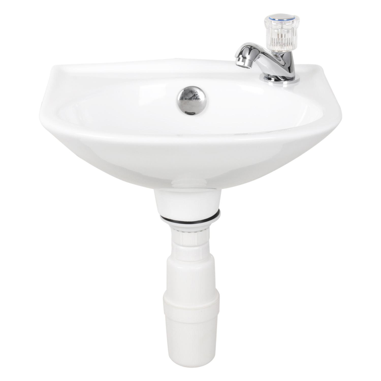Productafbeelding van Differnz fonteinset 32x15x28cm Keramiek 1 kraangat compleet Wit 38.021.00