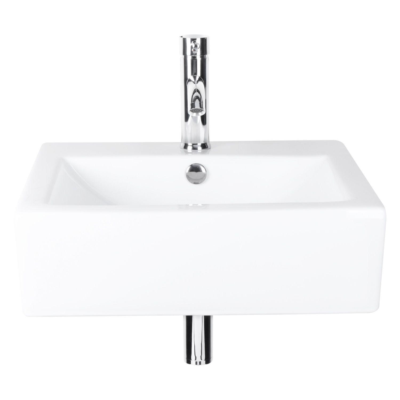 Productafbeelding van Differnz fonteinset 52x41x15cm Keramiek 1 kraangat compleet Wit 38.016.00