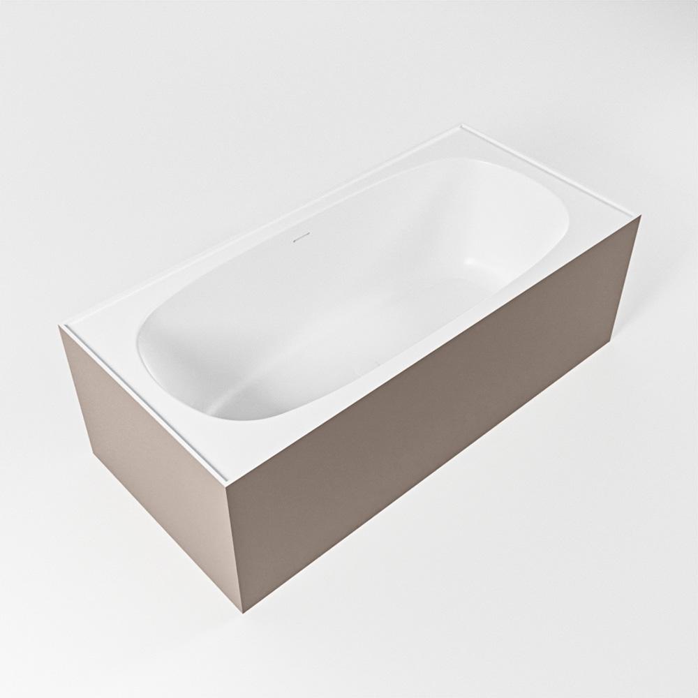 FREEZE vrijstaand bad 180x85cm kleur Smoke / talc