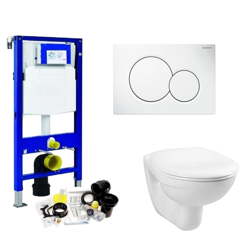 Toilet Toilet kopen? Geberit UP320 Toiletset set01 Basic Smart met Sigma drukplaat met korting