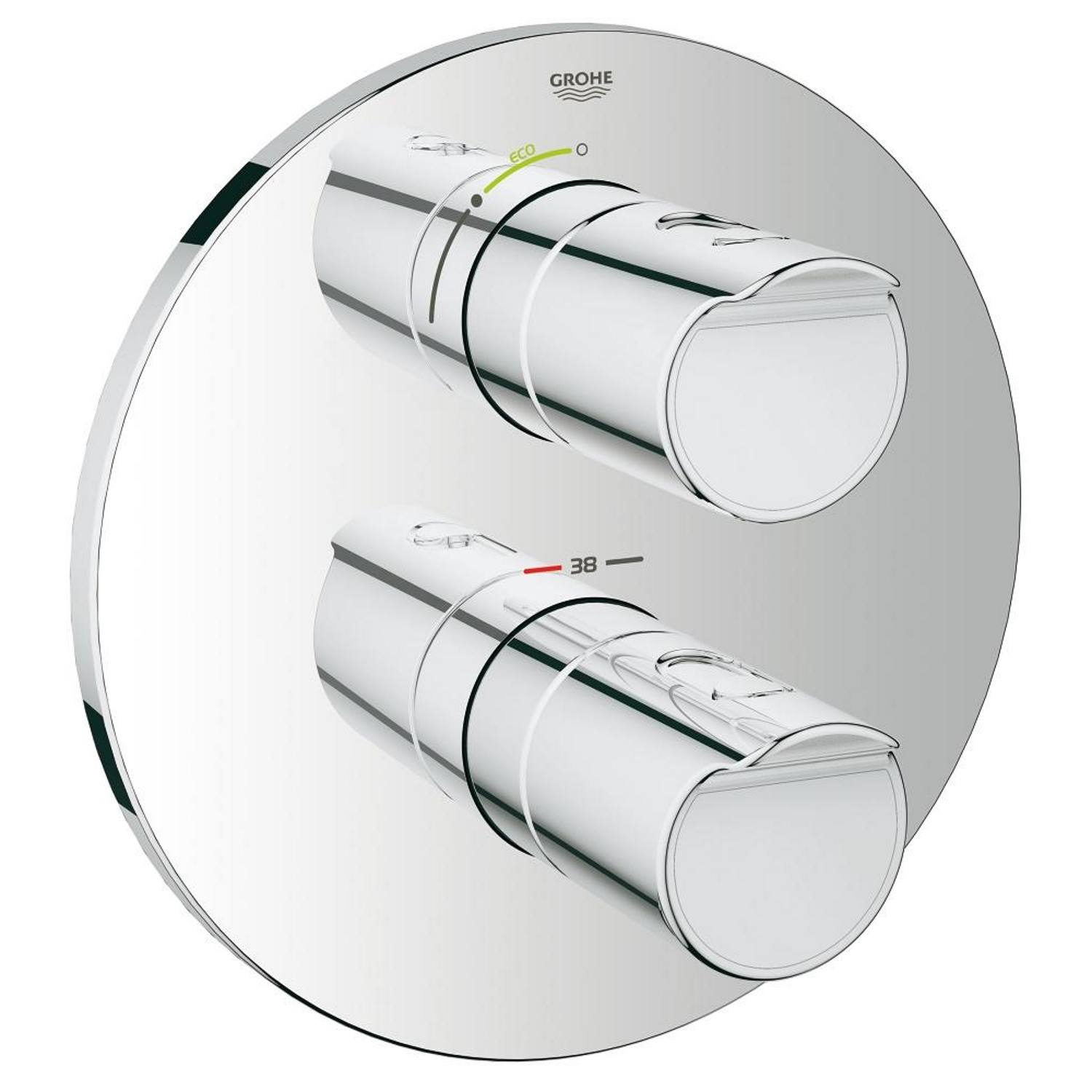 Grohe New Grohtherm 2000 afbouwdeel douchethermostaat chroom 19354001