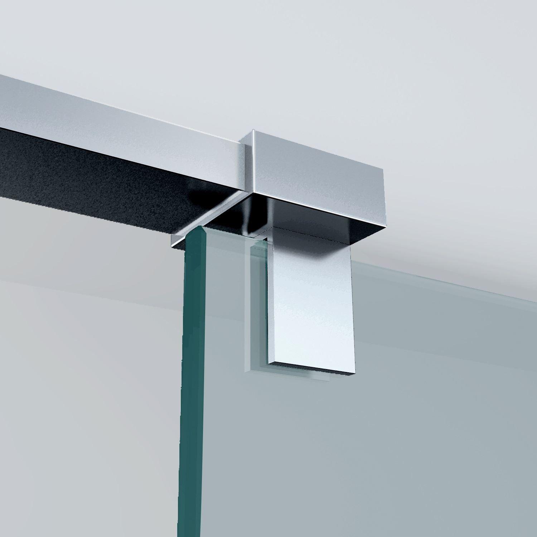 Sanitair-producten 5634 Haakse glaskoppeling chroom Draaibaar tbv stabilisatiestang