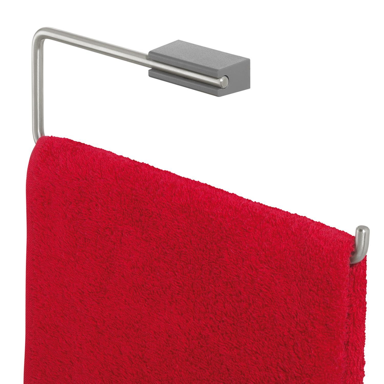 Tiger Cliqit handdoekring donkergrijs-RVS