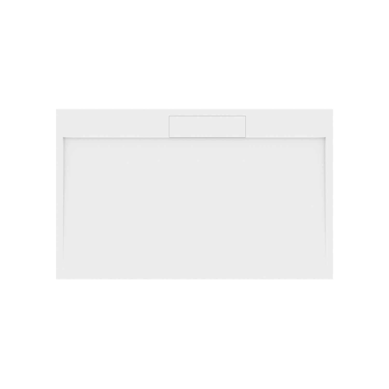 Productafbeelding van Douchebak Gegoten Marmer Sapho Irena 160x100x3.5 cm Rechthoek Wit