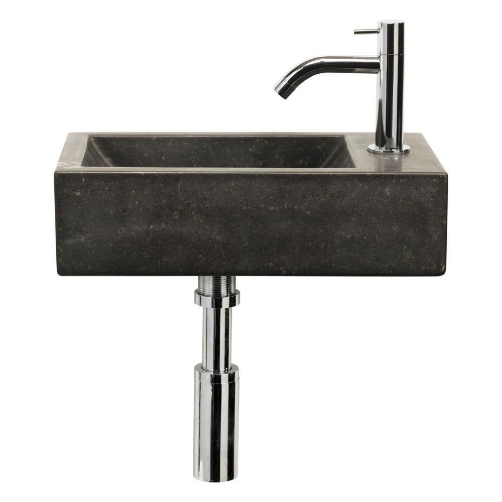 Hardstenen fonteinset Hiroko 40x23x11 cm Wastafels > Fontein toilet > Fonteinset snel en voordelig in huis