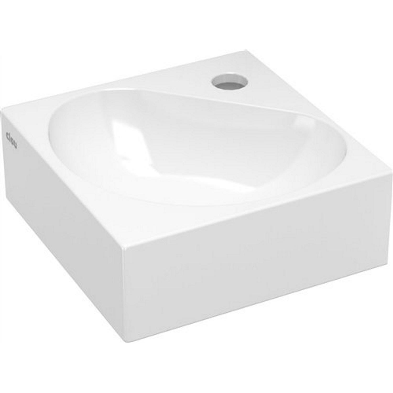 Hoekfontein Clou Flush 5 27x27x10cm Keramiek Glans Wit (Met Kraangat) voordeel