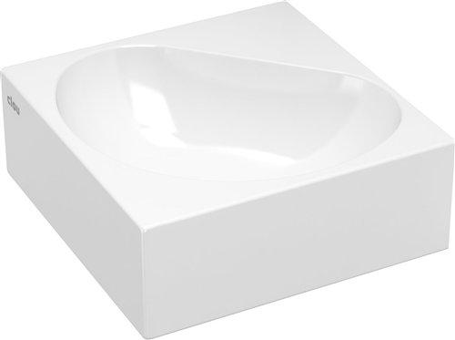 Hoekfontein Clou Flush 5 27x27x10cm Keramiek Glans Wit (Zonder Kraangat) voordeel
