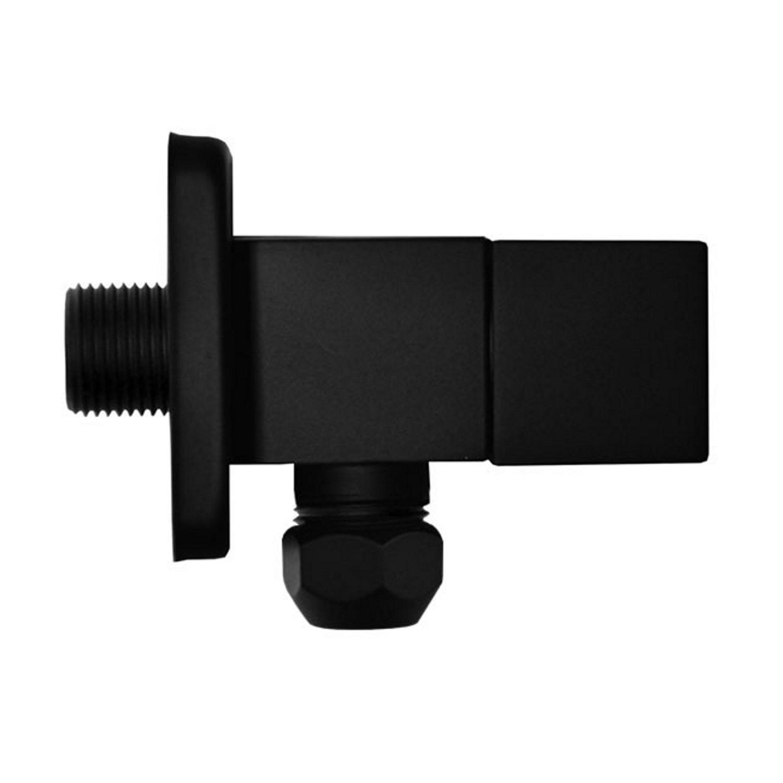 Hoekstopkraan Riko Square 3/8x10 Inclusief Rozet Mat Zwart voordeel