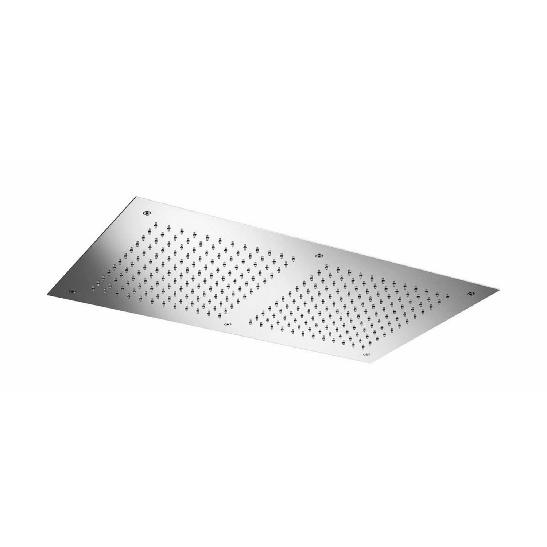 Hoofddouche Hotbath Mate Inbouw Vierkant 38x70 cm Geborsteld Nikkel
