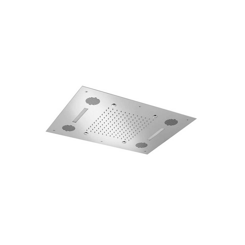 Hoofddouche Hotbath Mate Rechthoekig 48x63 cm Met Bluetooth Soundbox LED Chroom