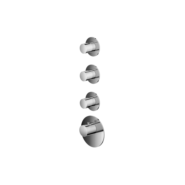 Productafbeelding van Hotbath Mate Afbouwdeel High Flow 3 Stopkranen Rond Geborsteld Nikkel