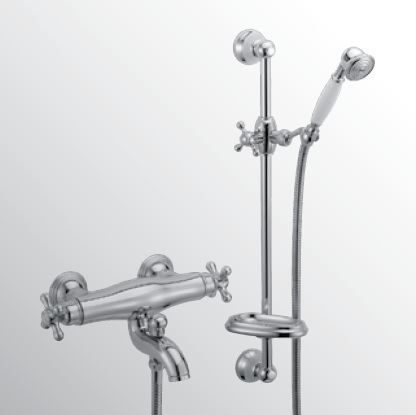 Sanitair-producten 15124 Huber Croisette Badmengkraan met thermostaat Goud 192.CS01H.AG