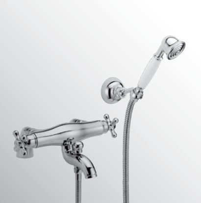 Sanitair-producten 15594 Huber Croisette Badmengkraan met thermostaat Goud 196CS01HAG