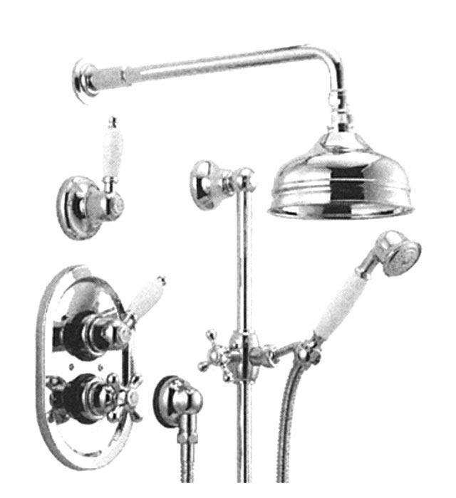 Kranen 13977 Huber Croisette Inbouw Thermostatische Doucheset Chroom/Goud 912CS01HCA