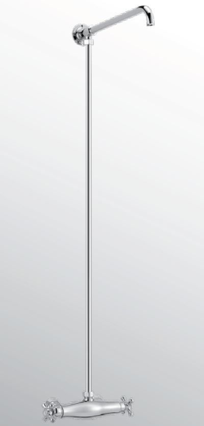 Kranen 15841 Huber Croisette Thermostatische Doucheset Chroom/Goud 398.CS01H.CA