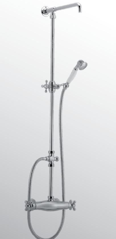 Sanitair-producten 13041 Huber Croisette Thermostatische Doucheset Chroom/Goud 399.CS01H.CA