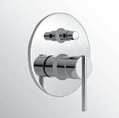 Kranen 14008 Huber Tratto Bad/douchemengkraan inbouw chroom TT.000210.21