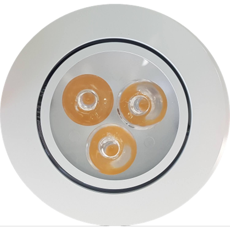 Inbouw Spotlamp Sanimex 85x45 mm Inclusief Armatuur en Gu10 3 Watt Wit (3 stuks) voordeel