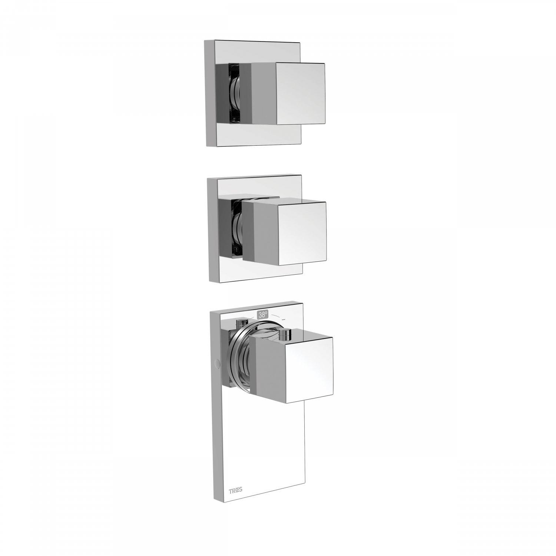 Inbouw Thermostaat Tres Block System 3-Weg Chroom Tres Gratis bezorgd