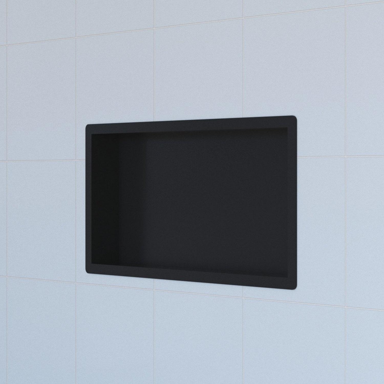 Inbouwnis Boss & Wessing Hide Luxe 30x60x7.5 cm RVS met Flens Zwart voordeel