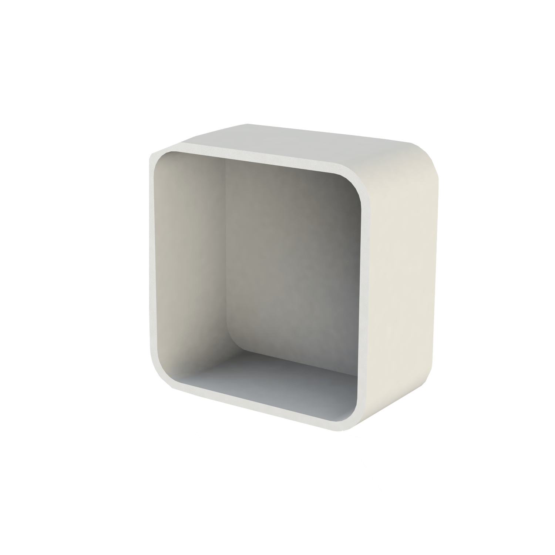 Inbouwnis Boss & Wessing Solid Alcove 30x30x8,5 cm Mat Wit
