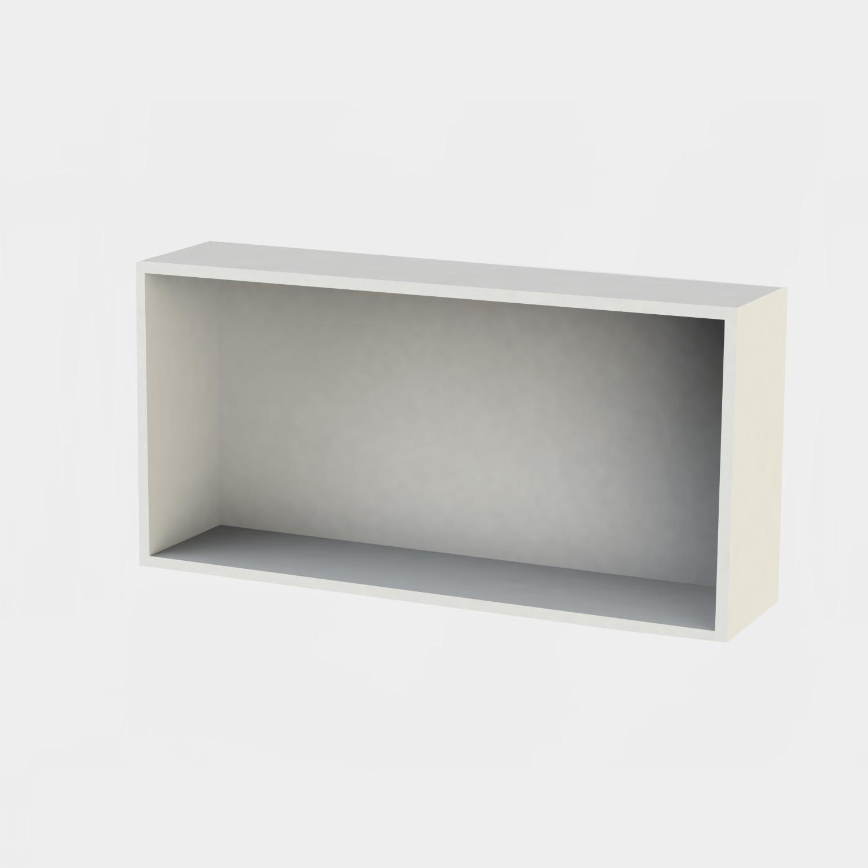 Inbouwnis Boss & Wessing Solid Alcove 60x30x8,5 cm Mat Wit