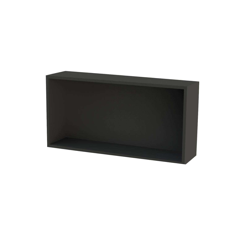 Inbouwnis Boss & Wessing Solid Alcove 60x30x8,5 cm Mat Zwart