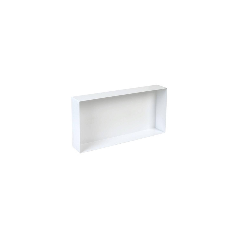 Inbouwnis Plieger Waterproof Voor In Wand 30x60 cm RVS Wit voordeel