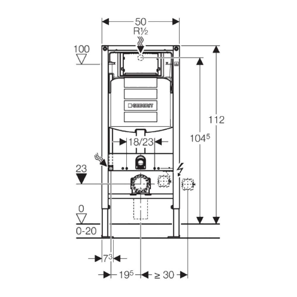 Extreem Geberit UP320 Toiletset set02 B&W Compact 47.5 cm met Sigma drukplaat AU51