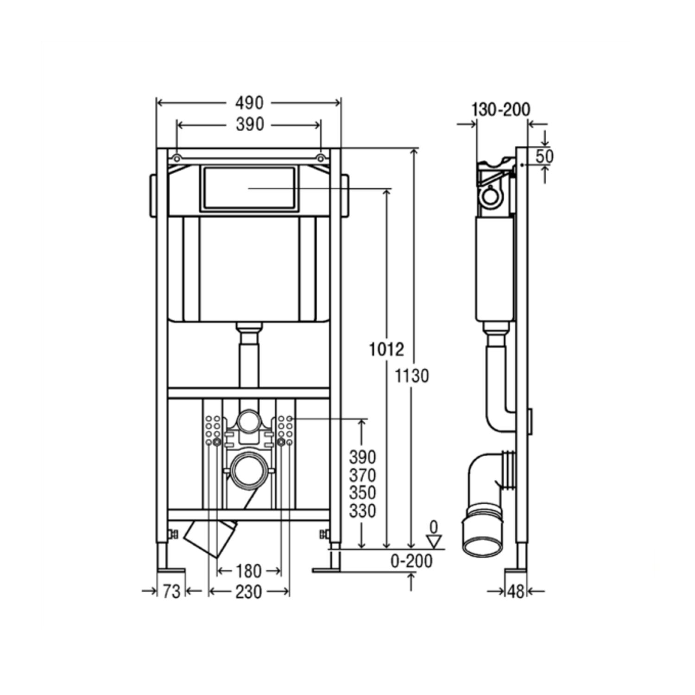 Bekend Viega EcoPlus toiletset 21 V&B Subway 2.0 Compact 48cm met Visign XA34