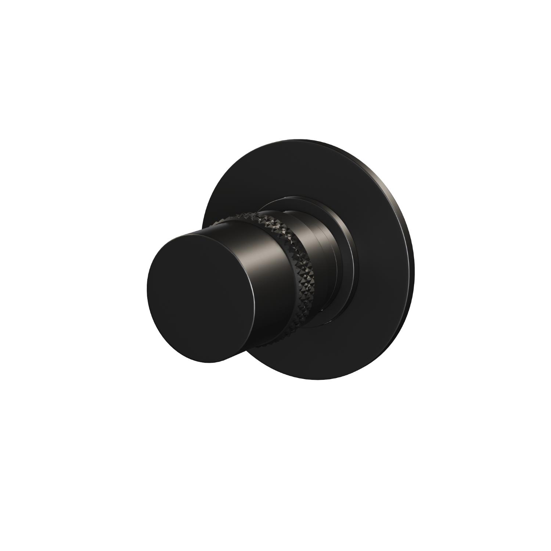 Inbouwstopkraan Brauer Black Rond Mat Zwart (Inclusief Inbouwdeel) voordeel