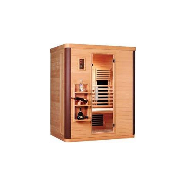 Infrarood Sauna Diamant 3 155x108 cm 2500W 3 Persoons Douche > Sauna > Sauna snel en voordelig in huis