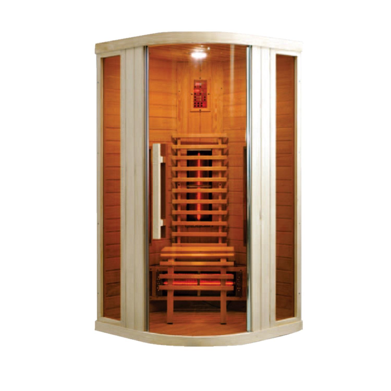 Infrarood Sauna Relax 1 100x100 cm 1600W 1 Persoons Douche > Sauna > Sauna snel en voordelig in huis
