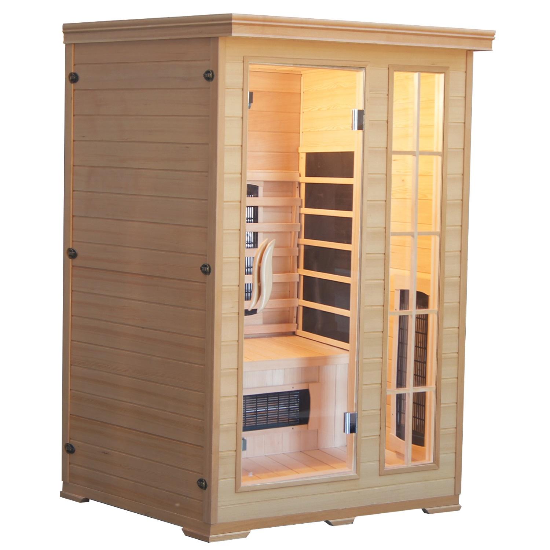 Infrarood Sauna Kombi 124x116 cm 2100W 2 Persoons Douche > Sauna > Sauna snel en voordelig in huis