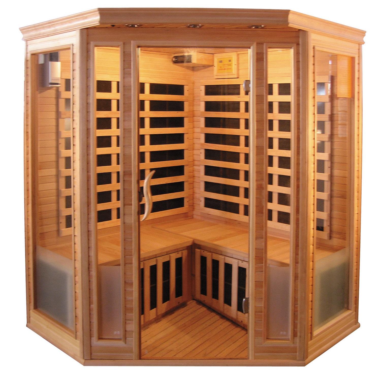 Infrarood Sauna Vital 150x150 cm 2100W 4 Persoons Douche > Sauna > Sauna snel en voordelig in huis