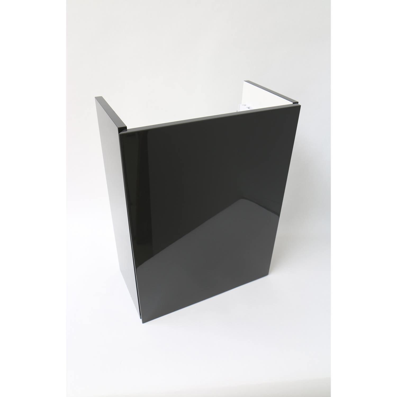 INK Fontein Contra Onderkast Rechtsdraaiend Greeploos Gelakt Hoogglans Antraciet 40x22x52 cm