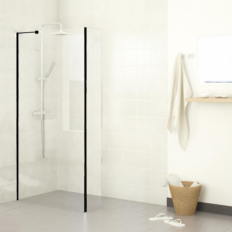 Sanitair-producten 74117 Inloopdouche Boss & Wessing Black Helder glas (30 t/m120 cm)