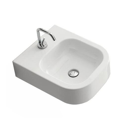 Sanitair-producten 5618 Keramische Wastafel Scarabeo Next 41x50cm wit