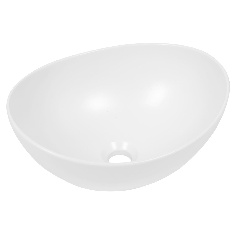 Sanitair-producten 64935 Keramische Opbouw Waskom Scale Ovaal 39x32x17.5 cm (3 kleuren verkrijgbaar)